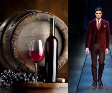酒红色服装不只是女人可以驾驭男人也可以