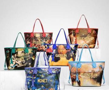 Louis Vuitton  Jeff Koons继续合作打造包中艺术品