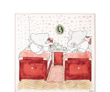 "LANVIN小象Babar胶囊系列全新上市 和林彦俊一起为爱""型""动"